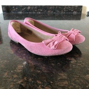 Ugg Pink Bow Flats Size 9